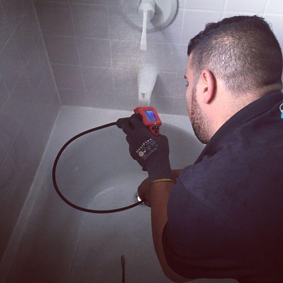 drain camera emergency plumbing
